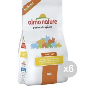 Set 6 ALMO NATURE Dog 704 400 Kroketten Huhn Mit Reis Small Futter Für Hunde