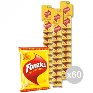 Set 60 FONZIES Patatine Stripes Gr 40 4005930 Snack E Merenda Salata