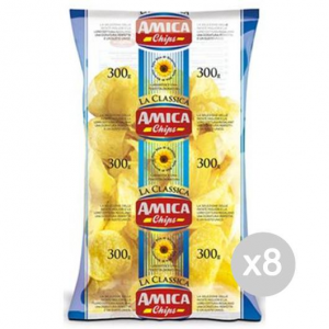 Set 8 AMICA Potato Chips Gr 300 Snack And Salty Snacks