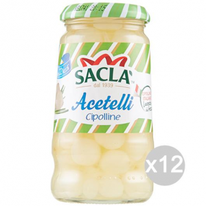 Set 12 SACLA' Onions Vinegar 300 Gr Food
