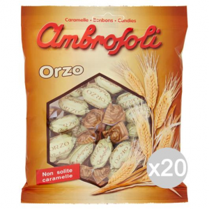 Set 20 AMBROSOLI Barley Candies 150 Gr Sweet And Food