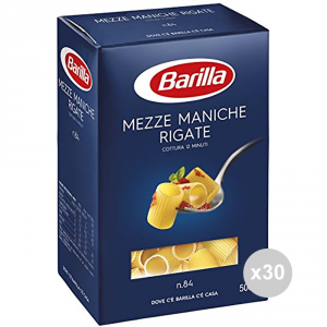Set 30 BARILLA Semolina 84 short sleeves striped Italian pasta GR500