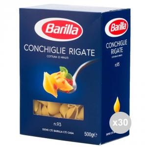 Set 30 BARILLA Semola 93 conchiglie rigate gr500 pasta italiana
