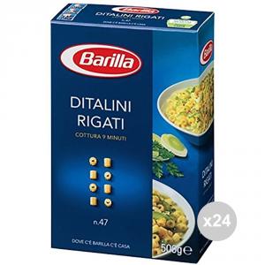 Set 24 BARILLA Griess 47 Griff gestreifte italienische Pasta GR500