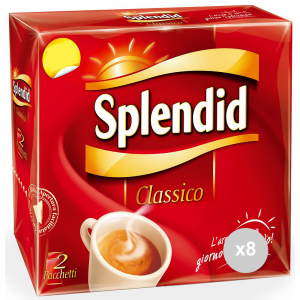 Set 8 SPLENDID Coffee Classical 2 x refresco 250g