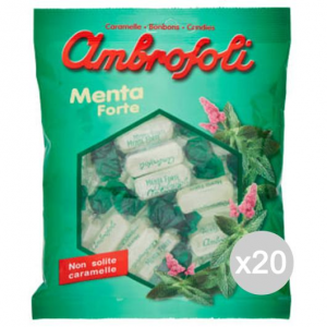 Set 20 AMBROSOLI Mint Candies 150 Gr Sweet And Food