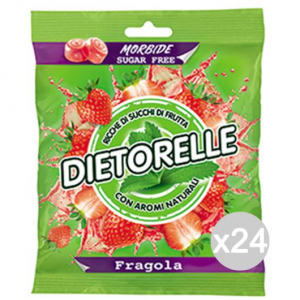 Set 24 DIETORELLE Bonbons Strawberry 70 Gr Sweet Und Lebensmittel