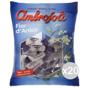 Set 20 AMBROSOLI Candy Anise Gr 150 Süßigkeiten Und Lebensmitteln