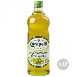 Set 12 CARAPELLI Olio extra vergine frantolio lt 1 condimento