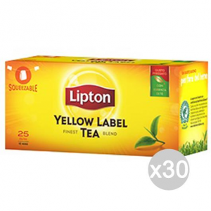 Set 30 LIPTON The 25 Filtri Gr 37.5 Bevanda Bibita Analcolica