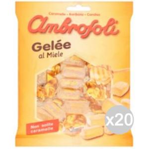 Set 20 AMBROSOLI Candies Gelee Honey Gr 130 Süßigkeiten Und Lebensmitteln