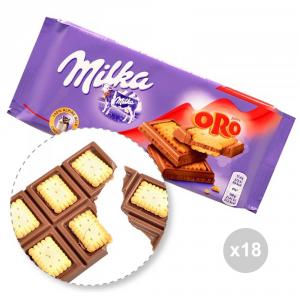 Set 18 MILKA Cioccolata tavoletta oro gr. 100 4013783 snack dolce