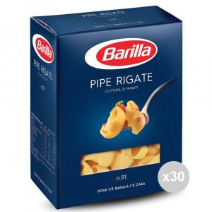 Set 30 BARILLA Semola 91 pipe rigate gr500 pasta italiana