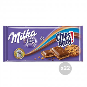Set 22 MILKA Chocolate tablet chips ahoy gr. 100 4044772 sweet snacks