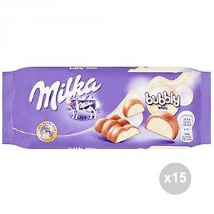 Set 15 MILKA Cioccolata tavoletta bubbly white gr. 100 4053441 snack dolce
