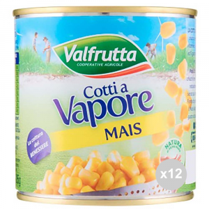VALFRUTTA Corn cooked vaporegr 326 tin salad dressing