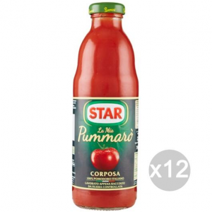 Set 12 STAR Past Pummaro Gr 700 Glass Dressing For Pasta