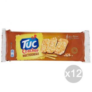 Set 12 SAIWA Tuc Cracker Multicereali Gr195 4000738 Snack E Merenda Salata