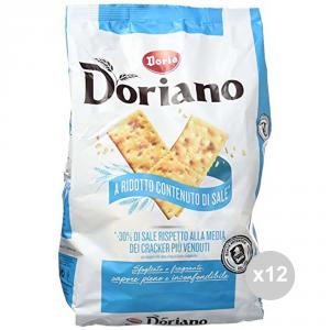 Set 12 DORIA Crackers lot unsalted blue 700 gr salted snacks