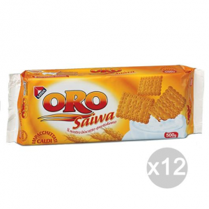 Set 12 SAIWA Biscuits Oro Gr500 685,816 For Breakfast And Snack