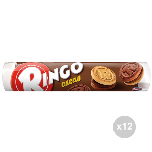 Set 12 RINGO Biscuits cocoa tube gr. 165 sweet snacks