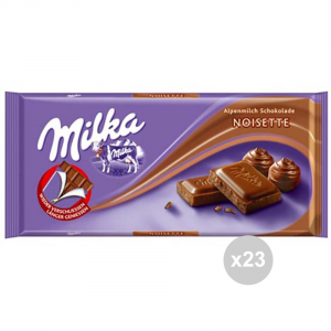 Set 23 MILKA tablet chocolate noisette gr. 100 4045896 sweet snacks