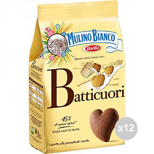 Set 12 MULINO BIANCO Biscuits batticuori 350 gr collations sucrées
