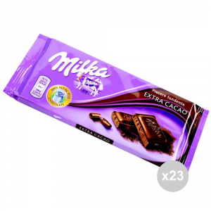 Set 23 MILKA Chocolate extra cocoa gr tablet. 100 4045894 sweet snacks