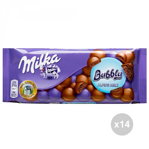 Set 14 MILKA bubbly milk chocolate tablet g. 90 4016829 sweet snacks