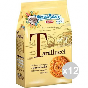 Set 12 MULINO BIANCO Gr 350 Tarallucci Biscuits For Breakfast And Snack