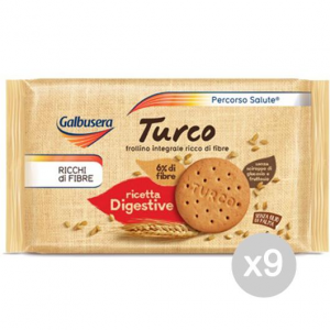 Set 9 GALBUSERA Turkish Gr.400 Biscuits For Breakfast And Snack