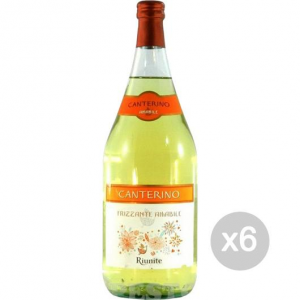 Set 6 White Wine Canterino Lt 1.5 Amabile Alcoholic Beverage From Table