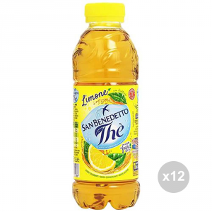 Set 12 SAN BENEDETTO The in bottiglia limone 500ml bevanda analcolica per feste