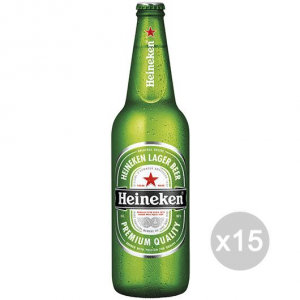 Set 15 HEINEKEN Beer Bottle 66Cl Alcoholic Drink