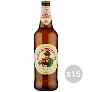 Set 15 MORETTI Beer Bottle 66Cl Alcoholic Drink