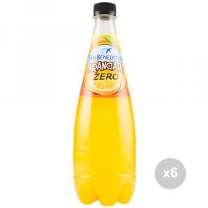 Set 6 SAN BENEDETTO Zero arancia ml 750 bottiglia bevanda analcolica per feste
