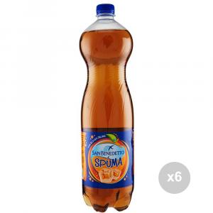 Set 6 SAN BENEDETTO Spuma lt 1. 5 bottiglia bevanda analcolica per feste