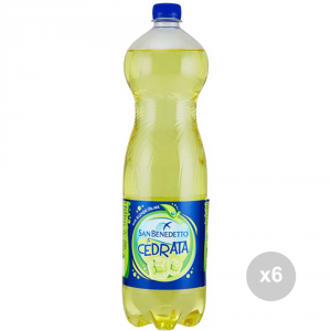 Set 6 SAN BENEDETTO Cedrata 1. 5 liters bottled soft drink for parties