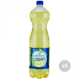 Set 6 SAN BENEDETTO Cedrata lt 1. 5 bottiglia bevanda analcolica per feste