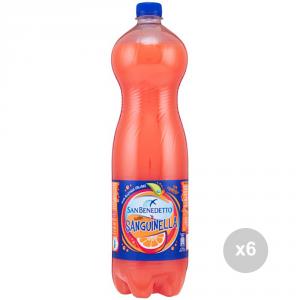 Set 6 SAN BENEDETTO Dogwood 1. 5 liters bottled soft drink for parties