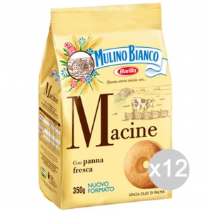 Set 12 MULINO BIANCO Biscuits 350 Gr Blades For Breakfast And Snack