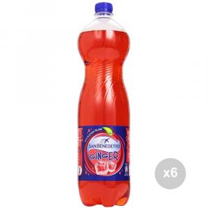 Set 6 SAN BENEDETTO Ginger 1. 5 liters bottled soft drink for parties