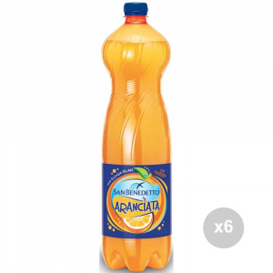 Set 6 SAN BENEDETTO Aranciata 1. 5 liters bottled soft drink for parties