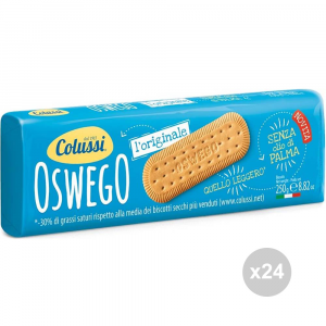 Set 24 COLUSSI Biscuits Oswego 250 gr collations sucrées
