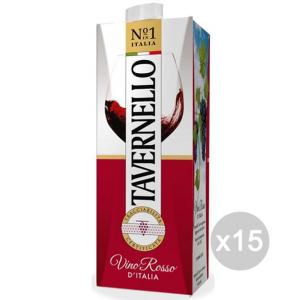 Set 15 TAVERNELLO Vino Brik Lt 1 Rosso Bevanda Alcolica Da Tavola
