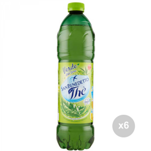 Set 6 SAN BENEDETTO The green bottle 1. 5 liters soft drink for parties