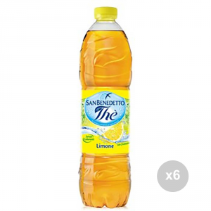 Set 6 SAN BENEDETTO The bottled lemon lt 1. 5 soft drink for parties
