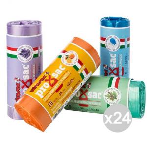 Set 24 VIROSAC Sacchi Pattumiera Assort 52X65 A Borsa 15P Rot Viro Igiene E Pulizia Della Casa