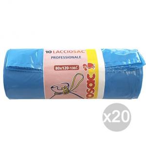 Set 20 VIROSAC Sacchi Bidone Azzu 80X120 Nyl Forte 10P Rot Viro Igiene E Pulizia Della Casa