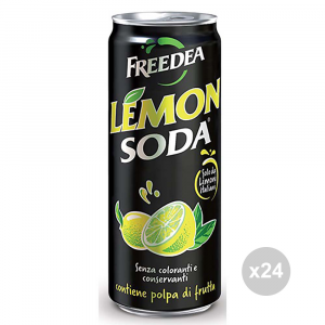 Set 24 LEMON SODA Lemonsoda cans 33cl soft drink for parties